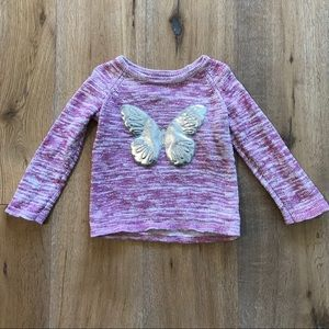 Gap butterfly Appliqué sweater
